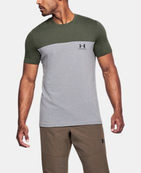 New Arrival Men's UA Sportstyle Colorblock T-Shirt  1 Color $25