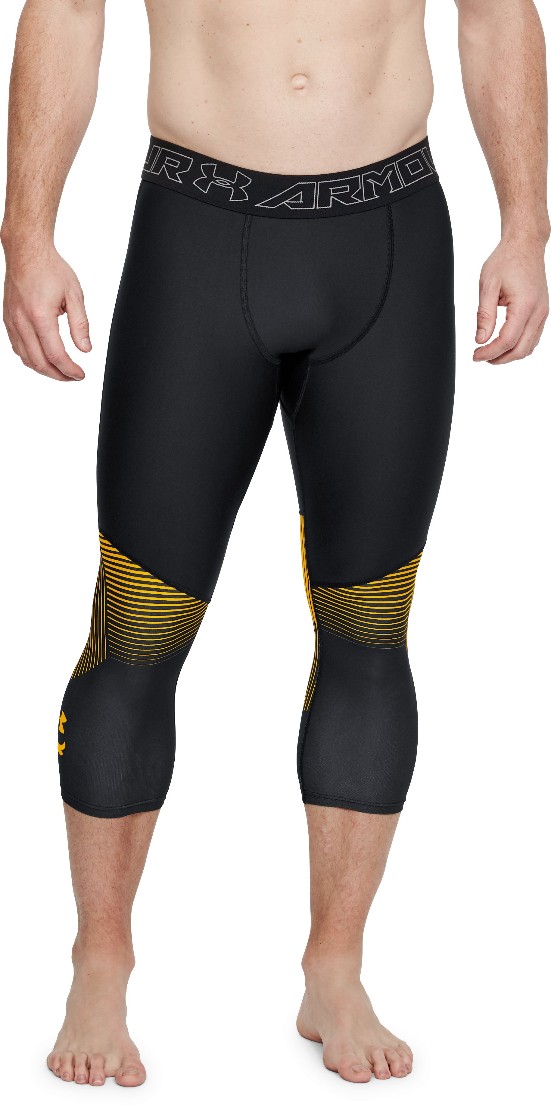 Men's UA x Project Rock Vanish Leggings, Black ,