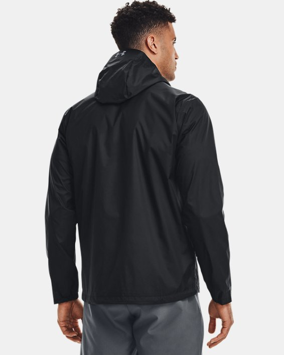 Men's UA Forefront Rain Jacket, Black, pdpMainDesktop image number 2