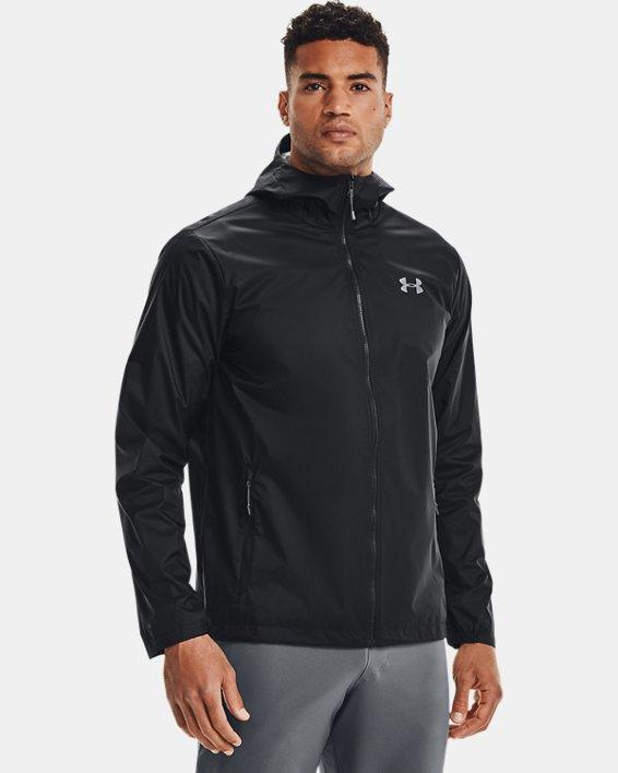Men's UA Forefront Rain Jacket, Black, pdpMainDesktop image number 2