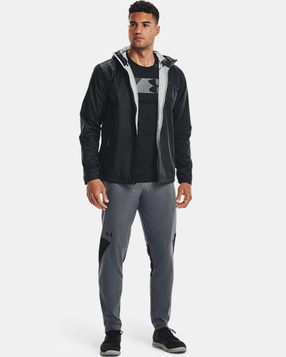 Men's UA Forefront Rain Jacket, Black, pdpMainDesktop image number 1