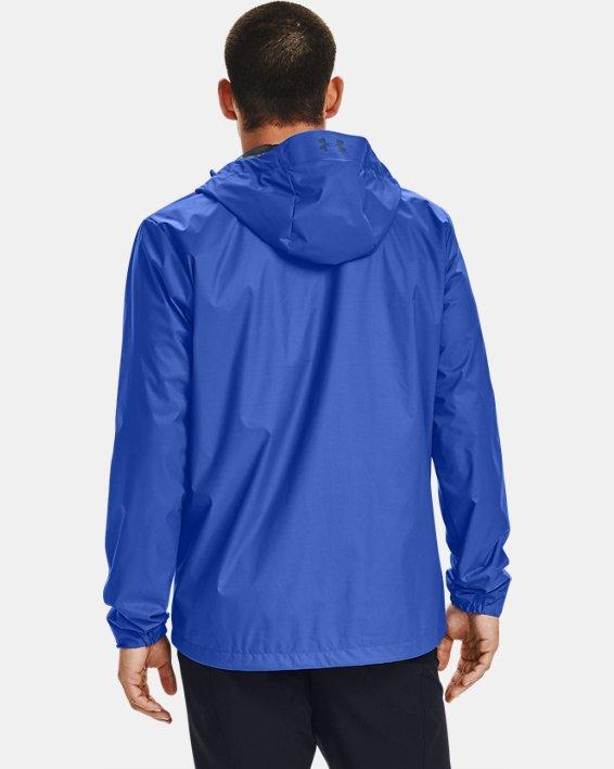Men's UA Forefront Rain Jacket, Blue, pdpMainDesktop image number 2
