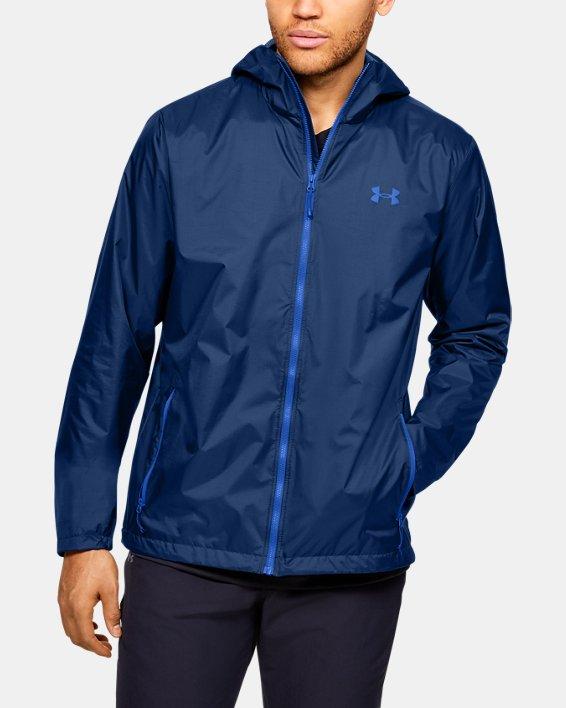 Men's UA Forefront Rain Jacket, Blue, pdpMainDesktop image number 0