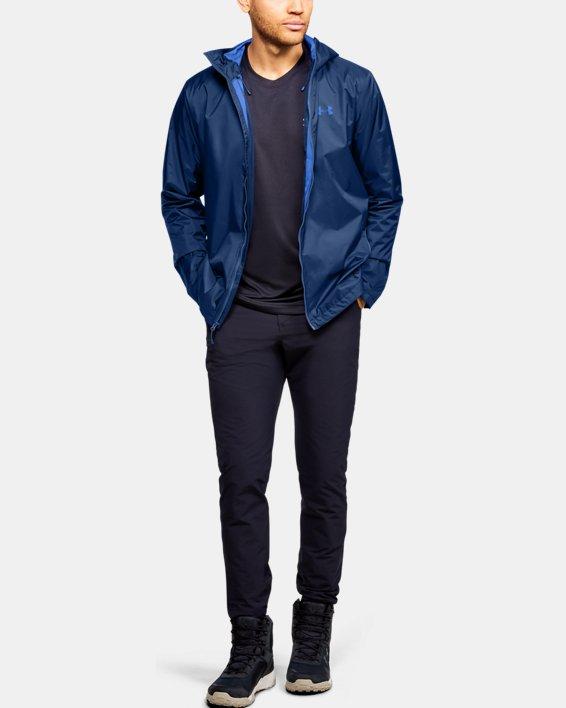 Men's UA Forefront Rain Jacket, Blue, pdpMainDesktop image number 1