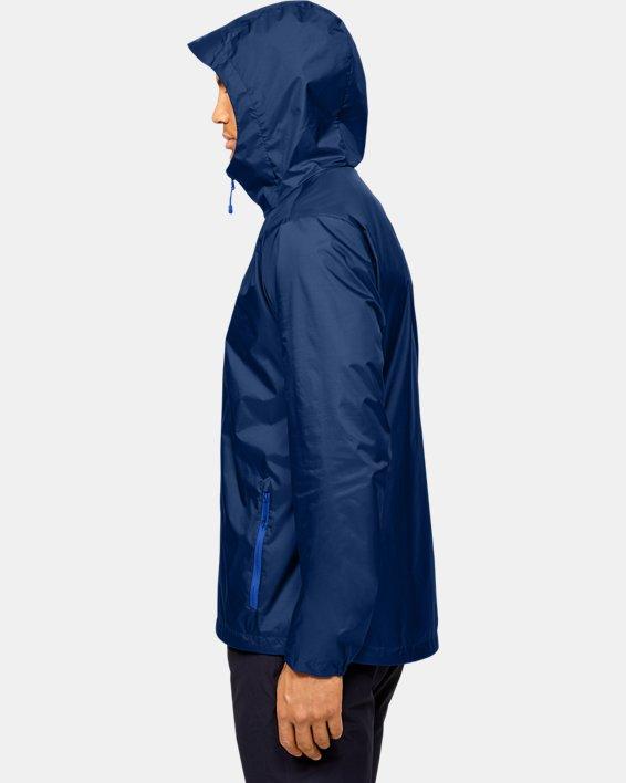 Men's UA Forefront Rain Jacket, Blue, pdpMainDesktop image number 3