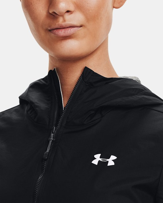 Women's UA Forefront Rain Jacket, Black, pdpMainDesktop image number 6