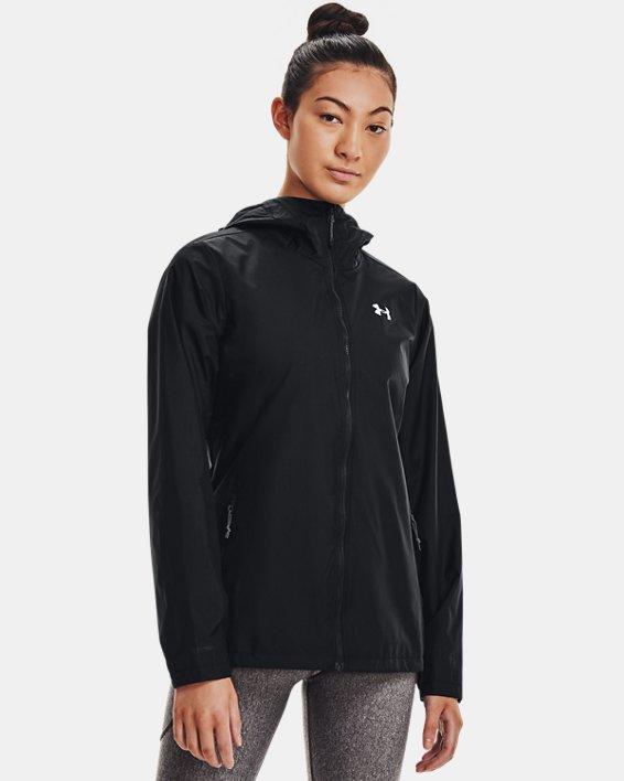 Women's UA Forefront Rain Jacket, Black, pdpMainDesktop image number 2