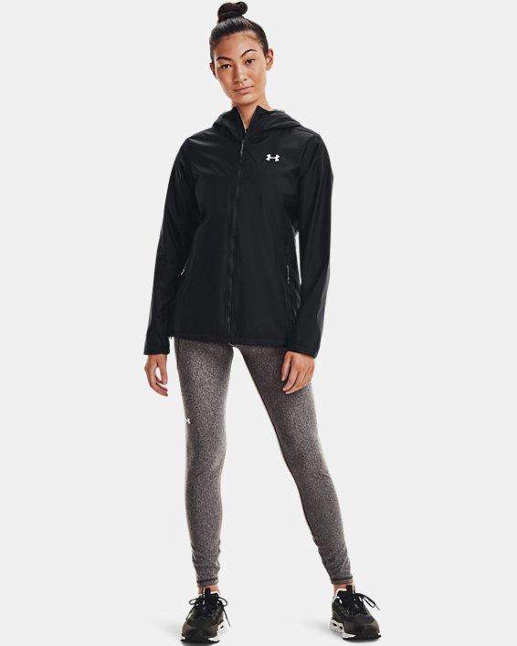 Women's UA Forefront Rain Jacket, Black, pdpMainDesktop image number 1