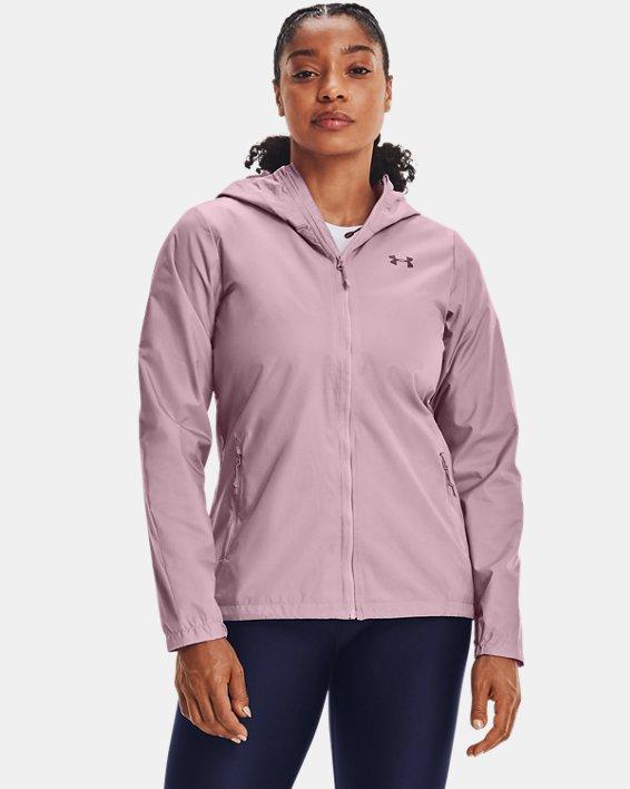 Veste UA Forefront Rain pour femme, Pink, pdpMainDesktop image number 1