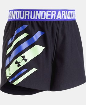 Girls' Pre-School UA Graphic Play Up Shorts  3  Colors Available $19.99