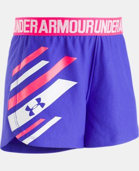 Girls' Pre-School UA Graphic Play Up Shorts  1  Color Available $19.99