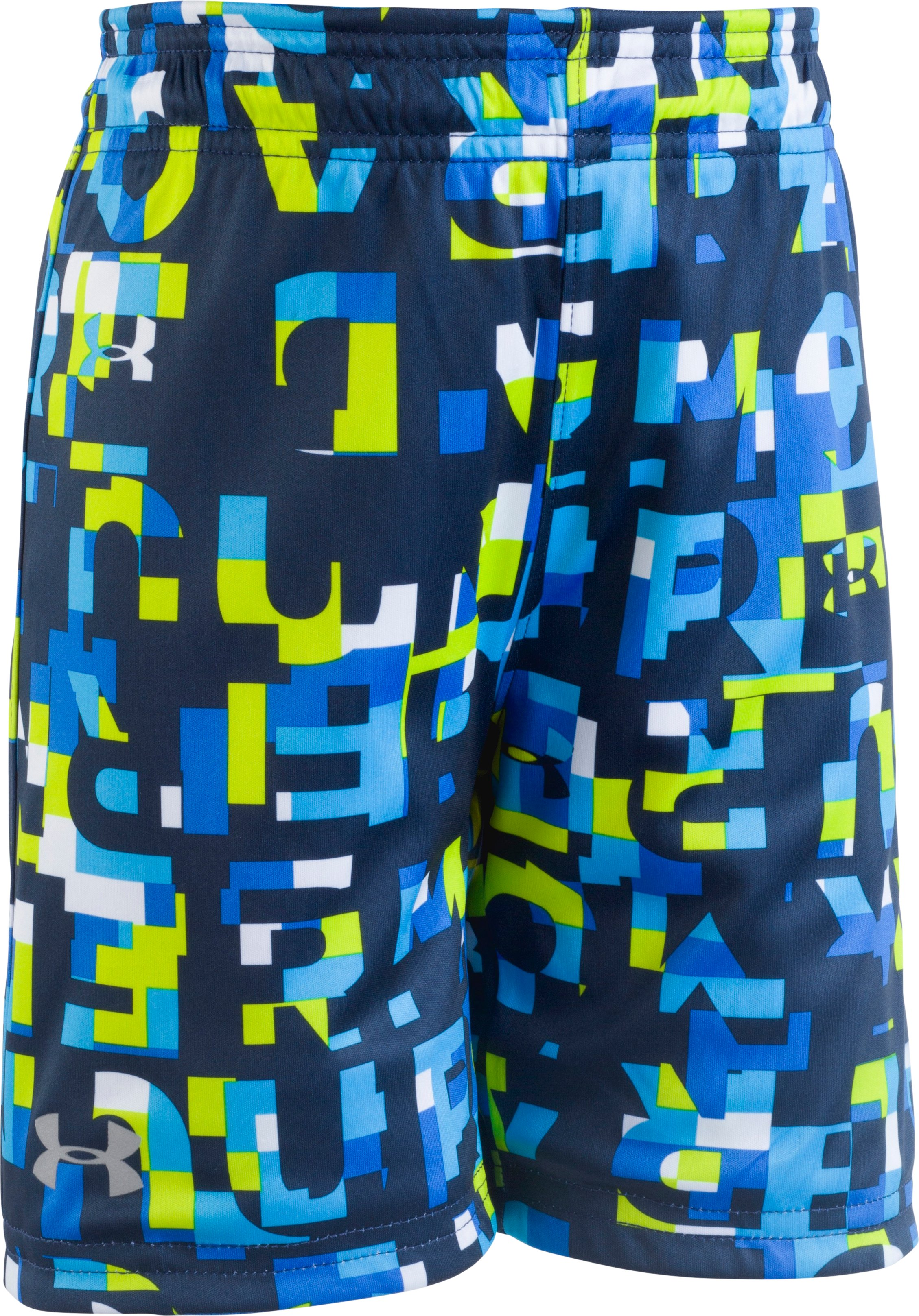 Boys' Pre-School UA Reversible Shorts, Mediterranean, Laydown