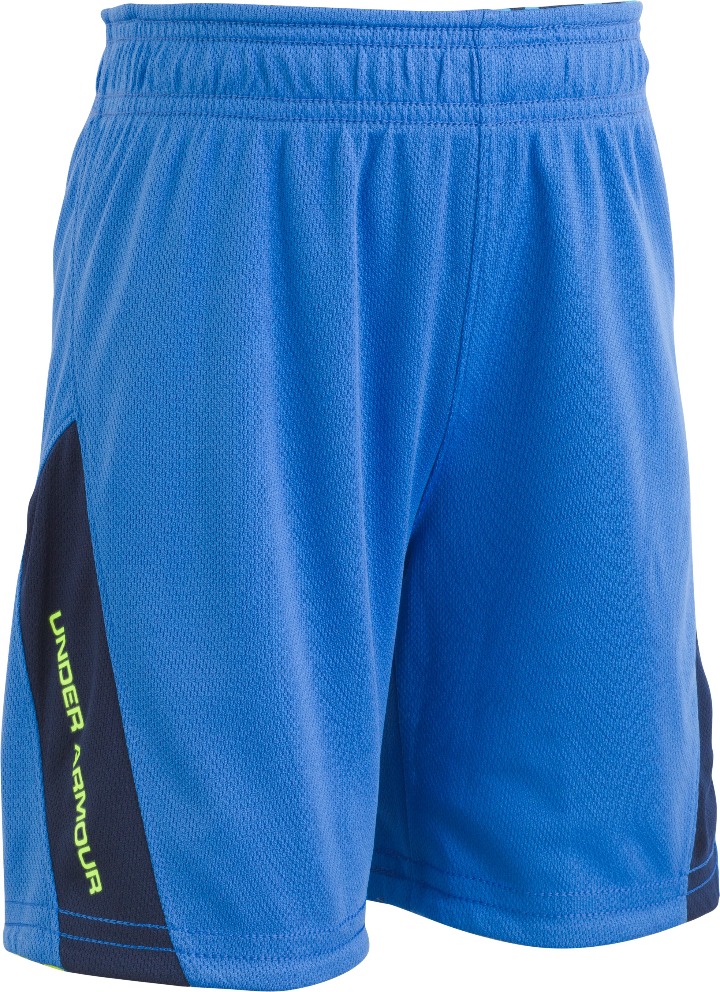 Boys' Pre-School UA Reversible Shorts, Mediterranean,
