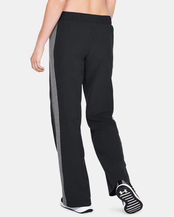 Women's UA Woven Wide Leg Pants, Black, pdpMainDesktop image number 2