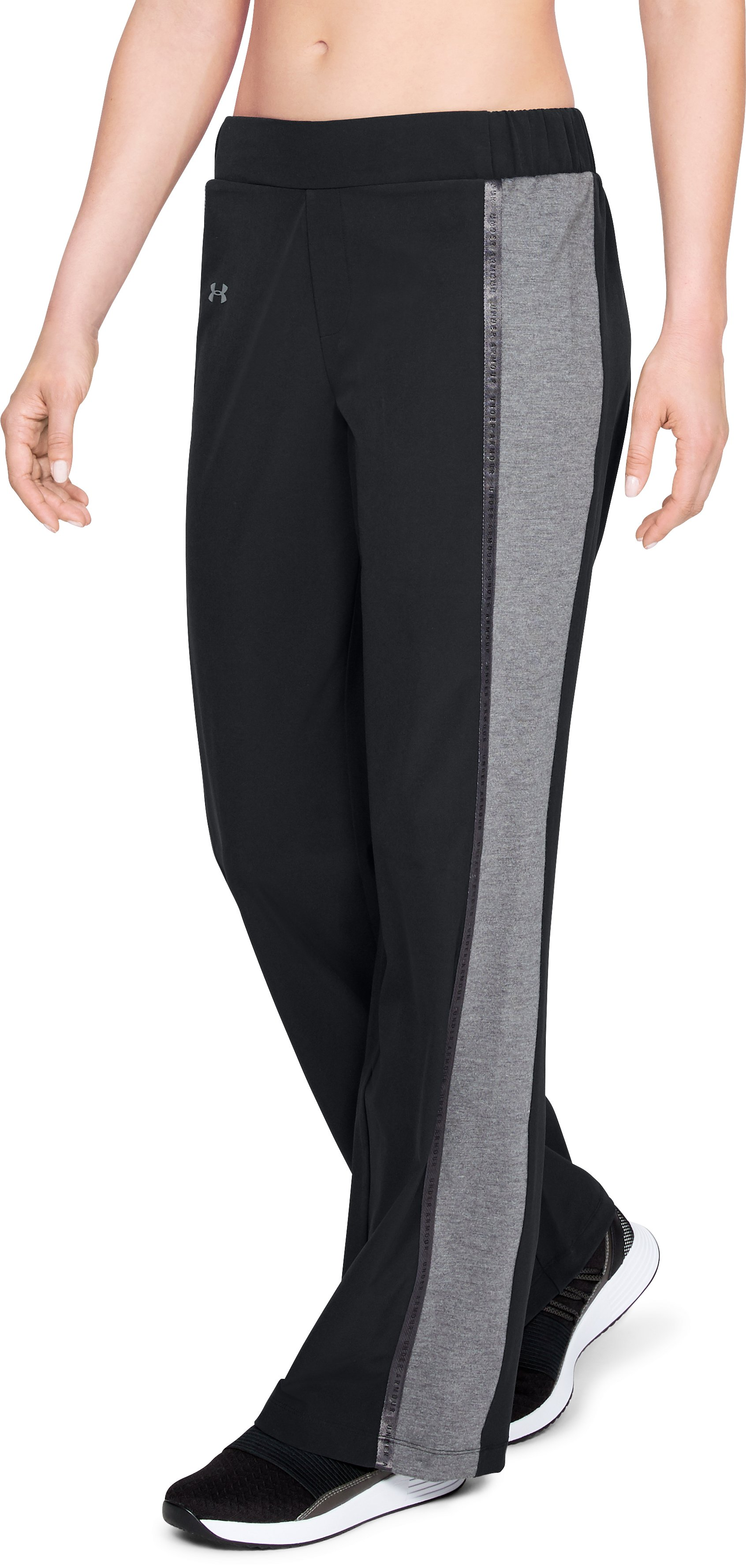 Women's UA Woven Wide Leg Pants, Black