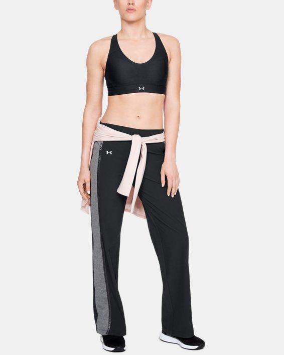Women's UA Woven Wide Leg Pants, Black, pdpMainDesktop image number 1