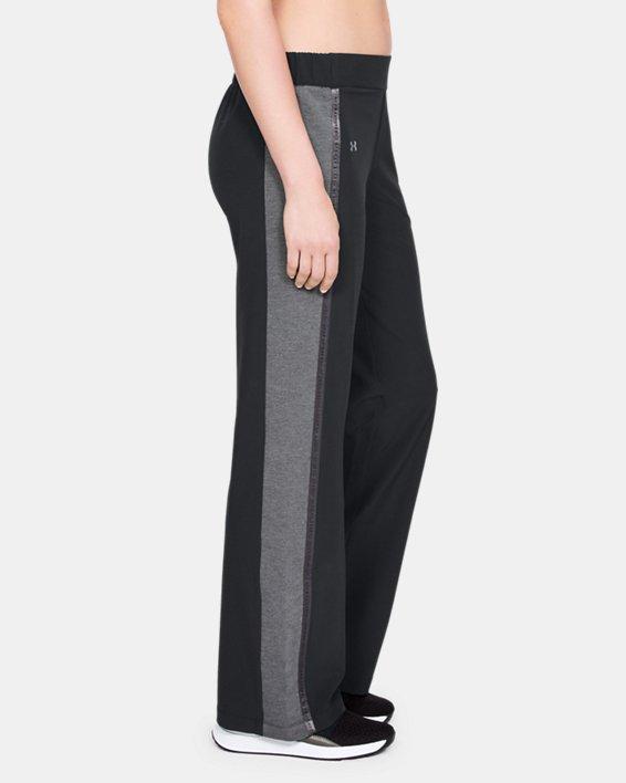 Women's UA Woven Wide Leg Pants, Black, pdpMainDesktop image number 3