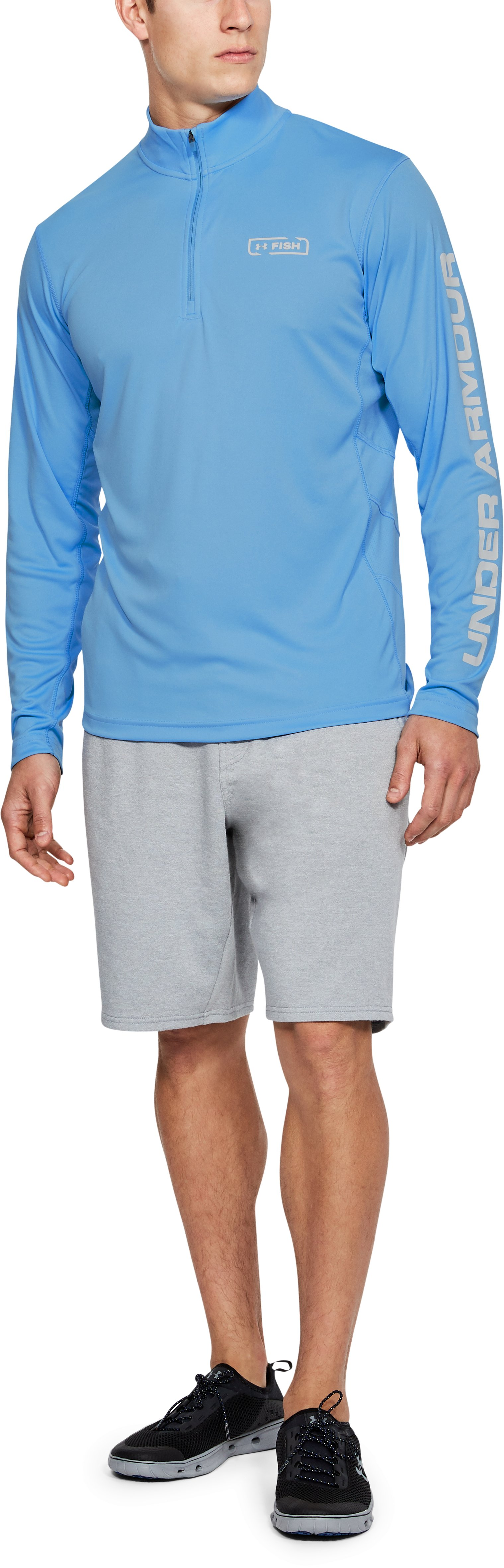 Men's UA Fish Hunter Tech ¼ Zip, Carolina Blue,