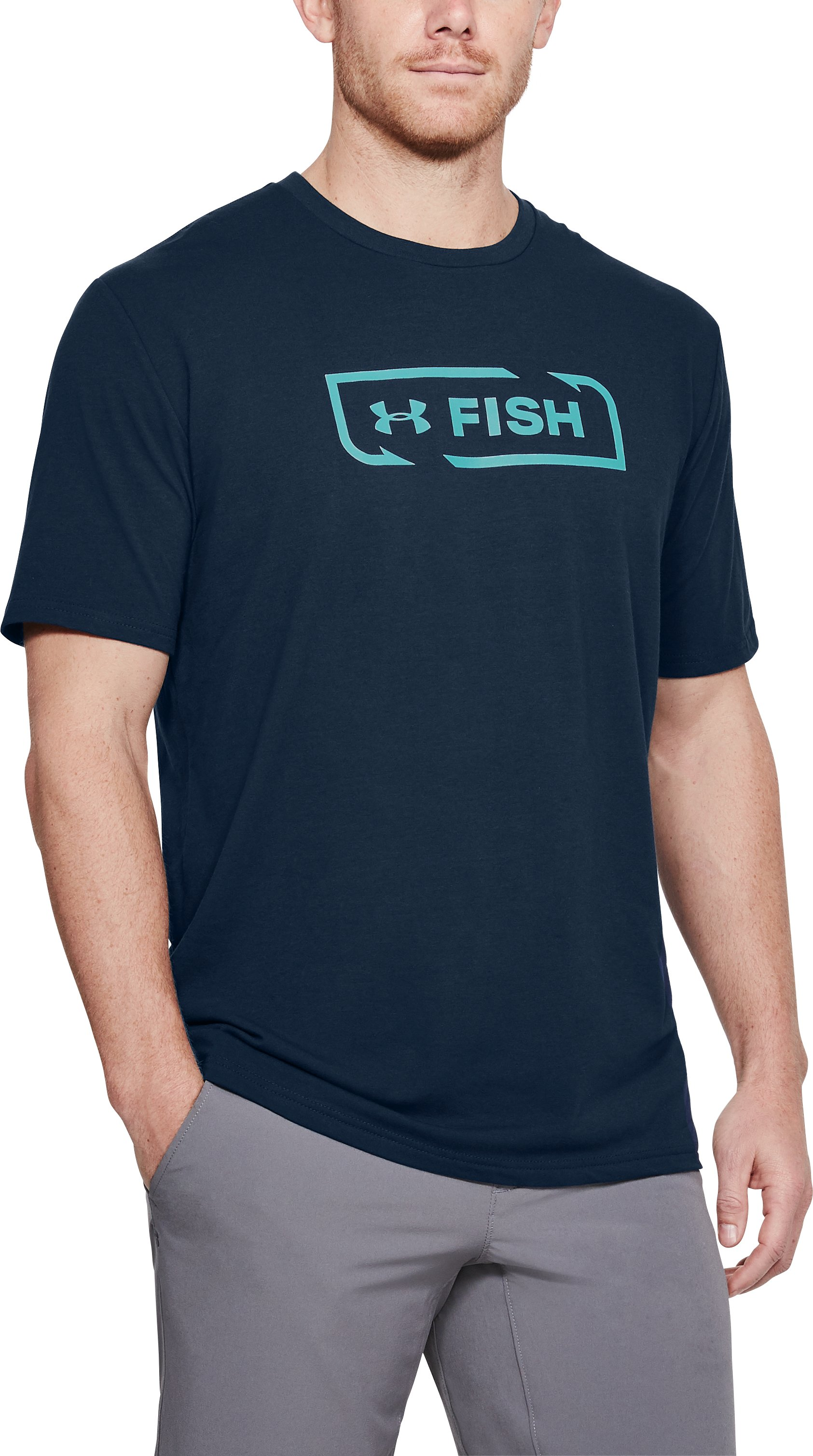 Men's UA Fish Logo T-Shirt, Academy