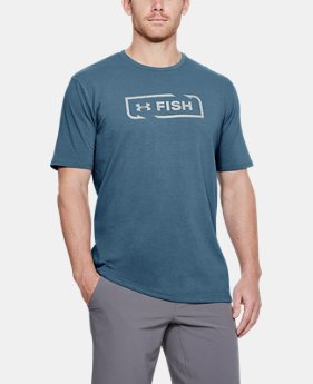 Men's UA Fish Logo T-Shirt  1  Color Available $25