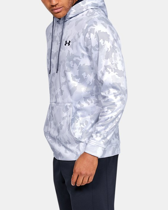 Men's Armour Fleece® Core Hoodie, White, pdpMainDesktop image number 3