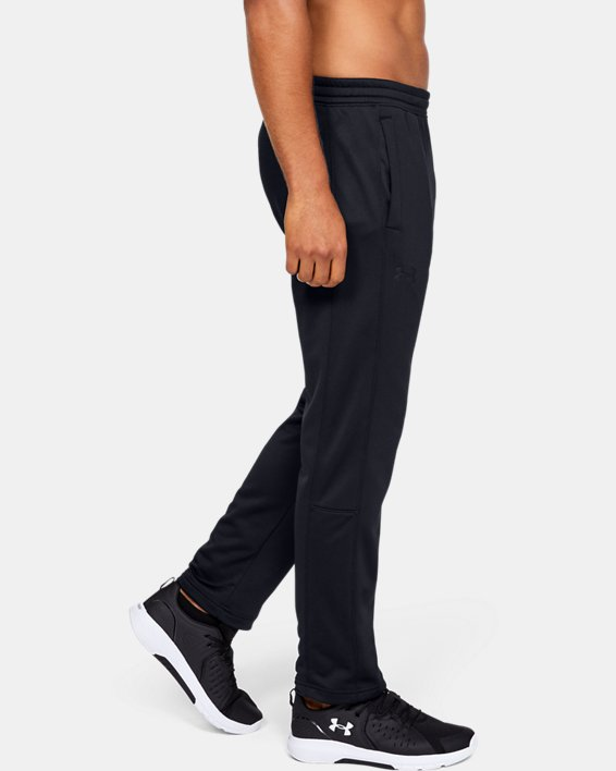 Men's Armour Fleece® Pants, Black, pdpMainDesktop image number 3