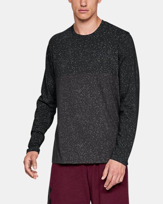 Men's UA Sportstyle Glitch Pattern Long Sleeve, Black, pdpMainDesktop image number 0