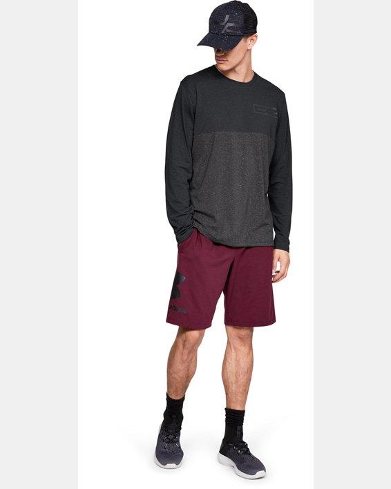 Men's UA Sportstyle Glitch Pattern Long Sleeve, Black, pdpMainDesktop image number 1