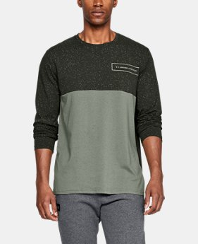 New Arrival  Men's UA Sporstyle Glitch Pattern Long Sleeve  1  Color Available $45