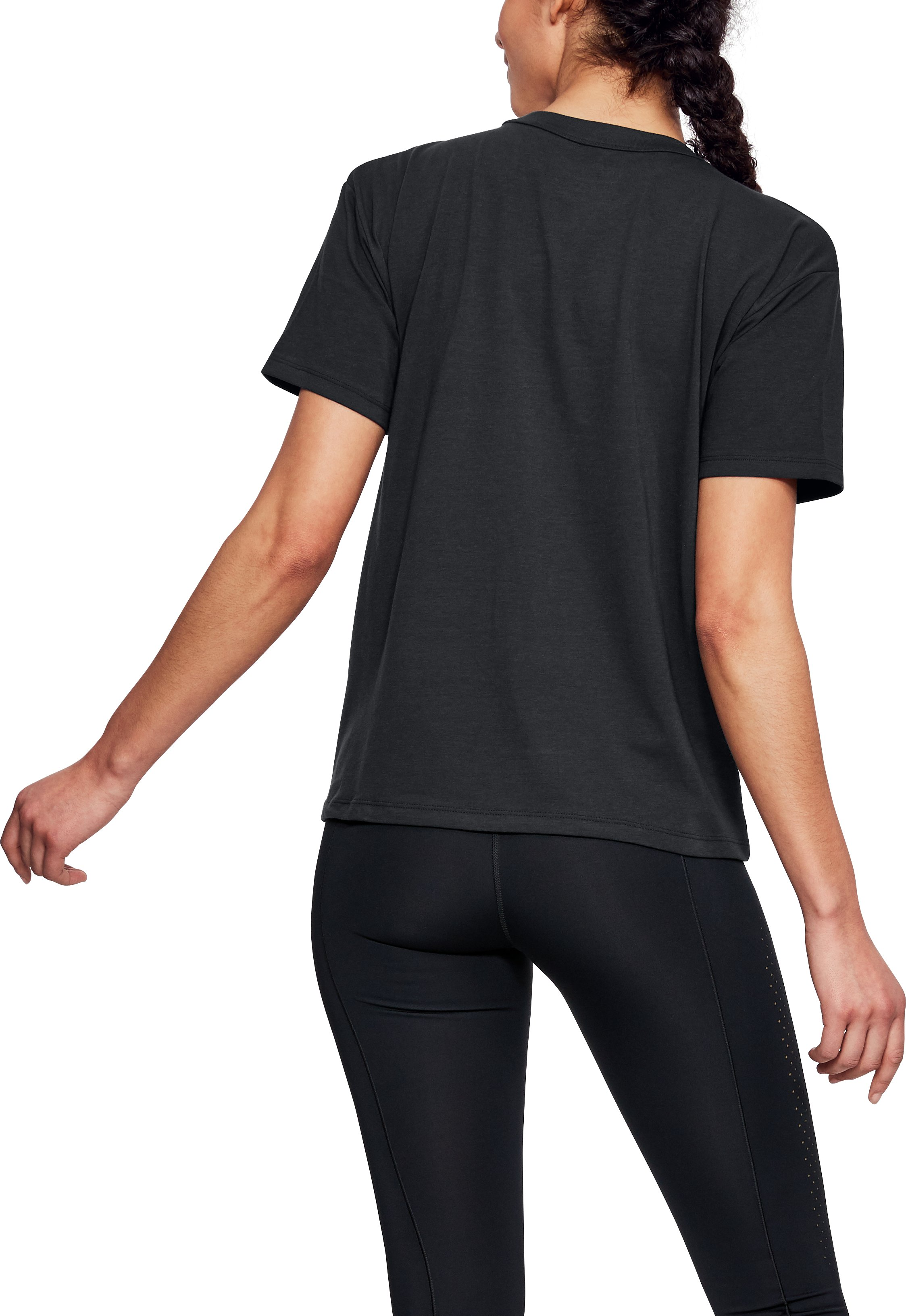 Women's UA Foil Girlfriend Crew, Black ,