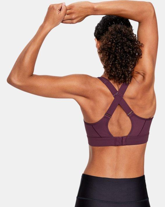 Women's UA Reflect High Printed Sports Bra, Purple, pdpMainDesktop image number 1