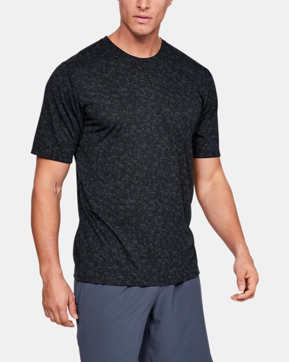 Men's UA Siro Print Short Sleeve, Black, pdpMainDesktop image number 0