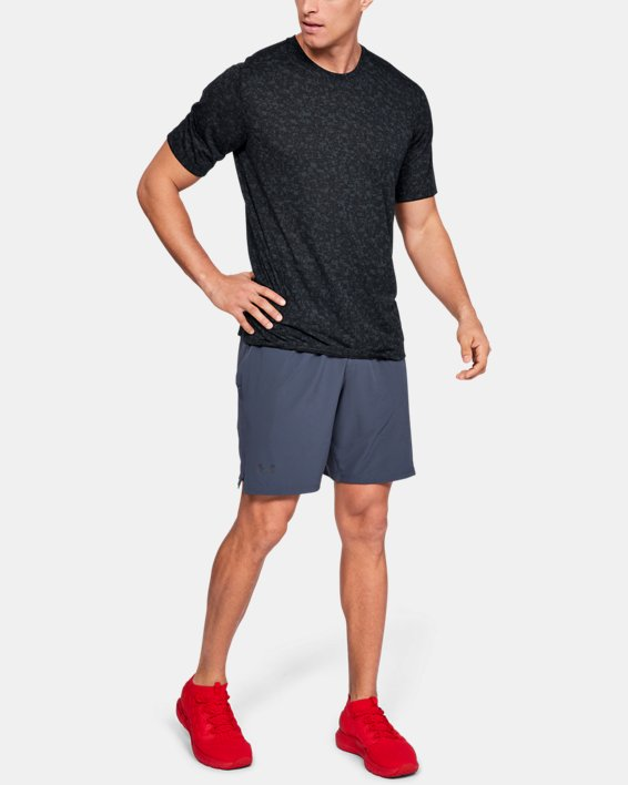 Men's UA Siro Print Short Sleeve, Black, pdpMainDesktop image number 1