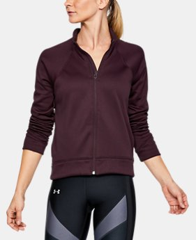 New to Outlet Women's  Armour Fleece® Modern Mock Full Zip  1 Color $48.74