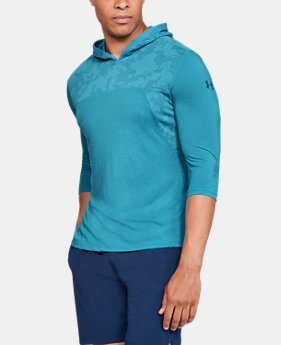 New Arrival  Men's UA Siro Elite ¾ Sleeve Hoodie  1  Color Available $55