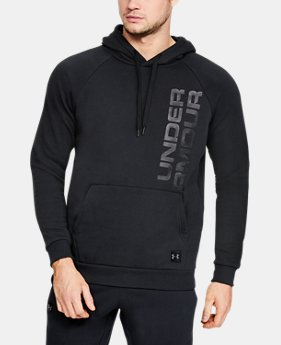 New Arrival Men's UA Rival Fleece Script Hoodie  1  Color Available $50