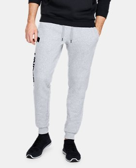 New Arrival Men's UA Rival Fleece Script Joggers  1  Color Available $50