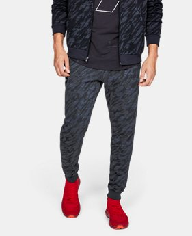New to Outlet Men's UA Rival Fleece Camo Joggers  1  Color Available $50