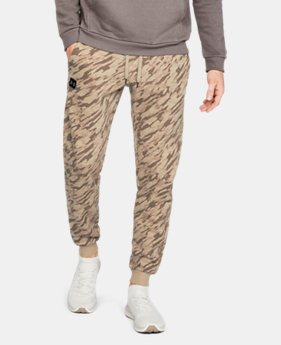 New to Outlet Men's UA Rival Fleece Camo Joggers  2  Colors Available $50