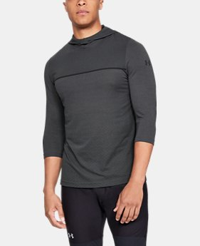 New Arrival Men's UA Vanish Seamless ¾ Sleeve Hoodie  2  Colors Available $55