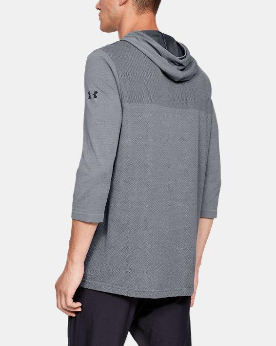 Men's UA Vanish Seamless ¾ Sleeve Hoodie, Gray, pdpMainDesktop image number 2