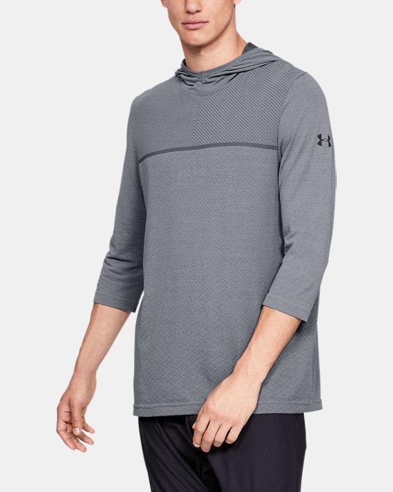 Men's UA Vanish Seamless ¾ Sleeve Hoodie, Gray, pdpMainDesktop image number 0