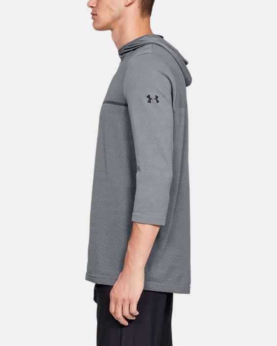 Men's UA Vanish Seamless ¾ Sleeve Hoodie, Gray, pdpMainDesktop image number 3