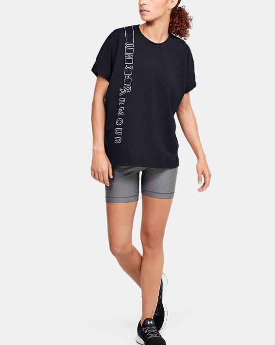 Women's UA Lighter Longer Graphic T-Shirt, Black, pdpMainDesktop image number 1