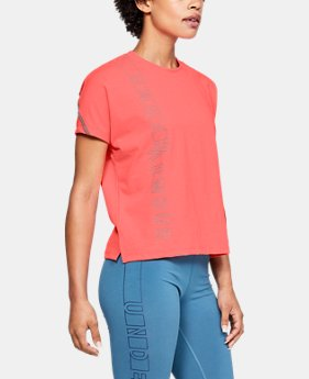 New Arrival Women's UA Lighter Longer Graphic T-Shirt  6  Colors Available $35