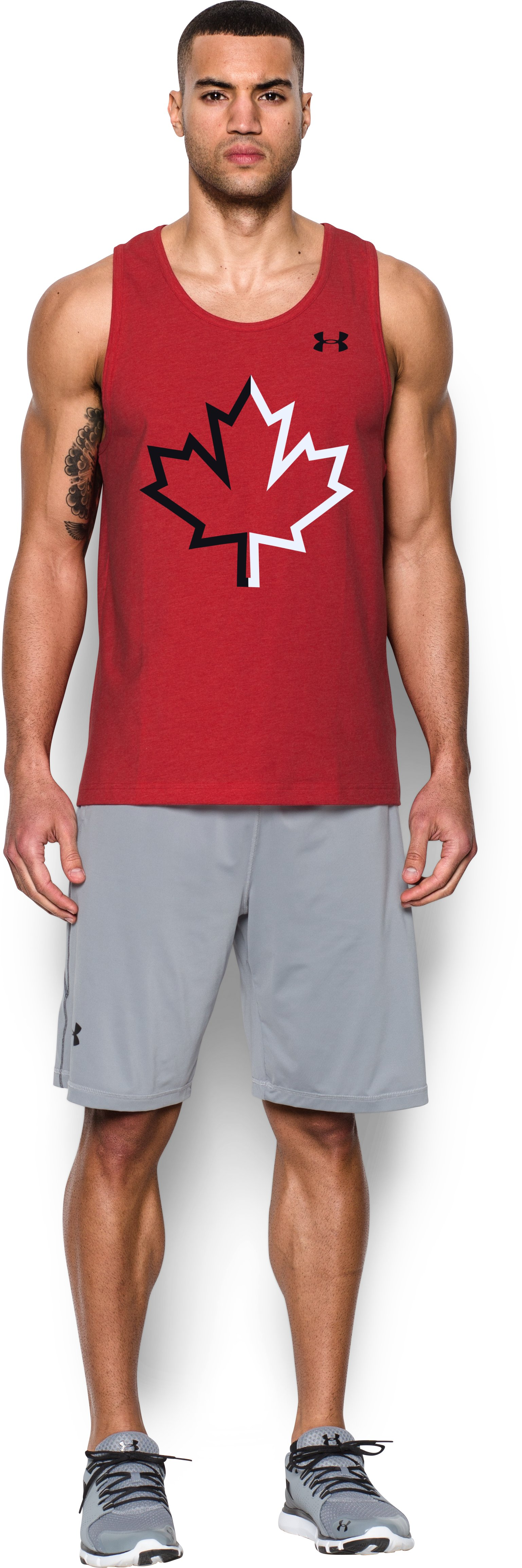 Men's UA Canada Tank , Red, Front