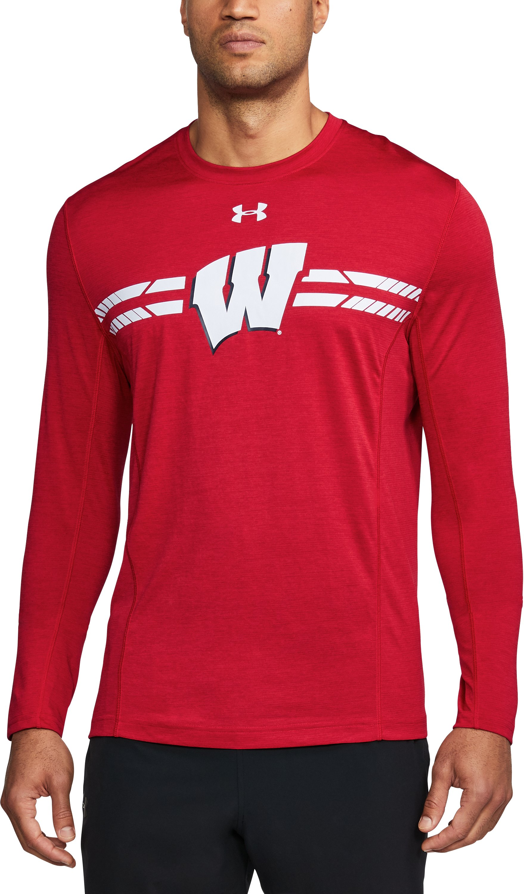 football training t shirts Men's Wisconsin Long Sleeve Training T-Shirt