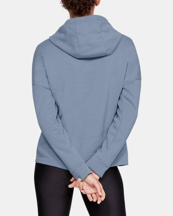 Women's UA Rival Fleece Hoodie, Blue, pdpMainDesktop image number 2