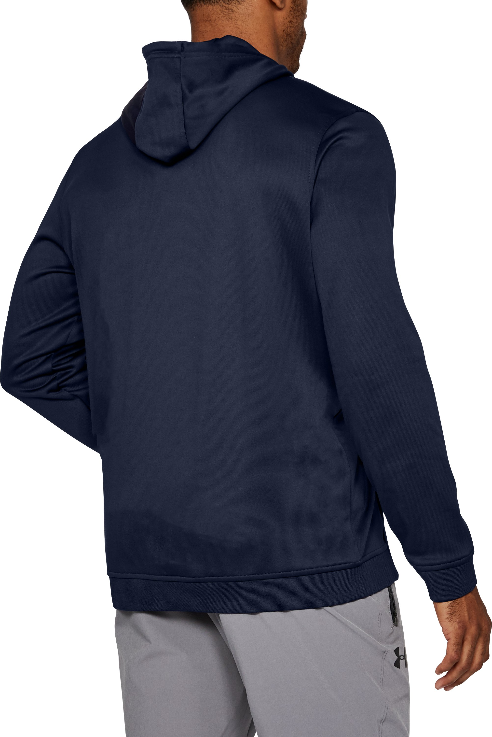 Men's Armour® Fleece Hoodie, Midnight Navy, undefined