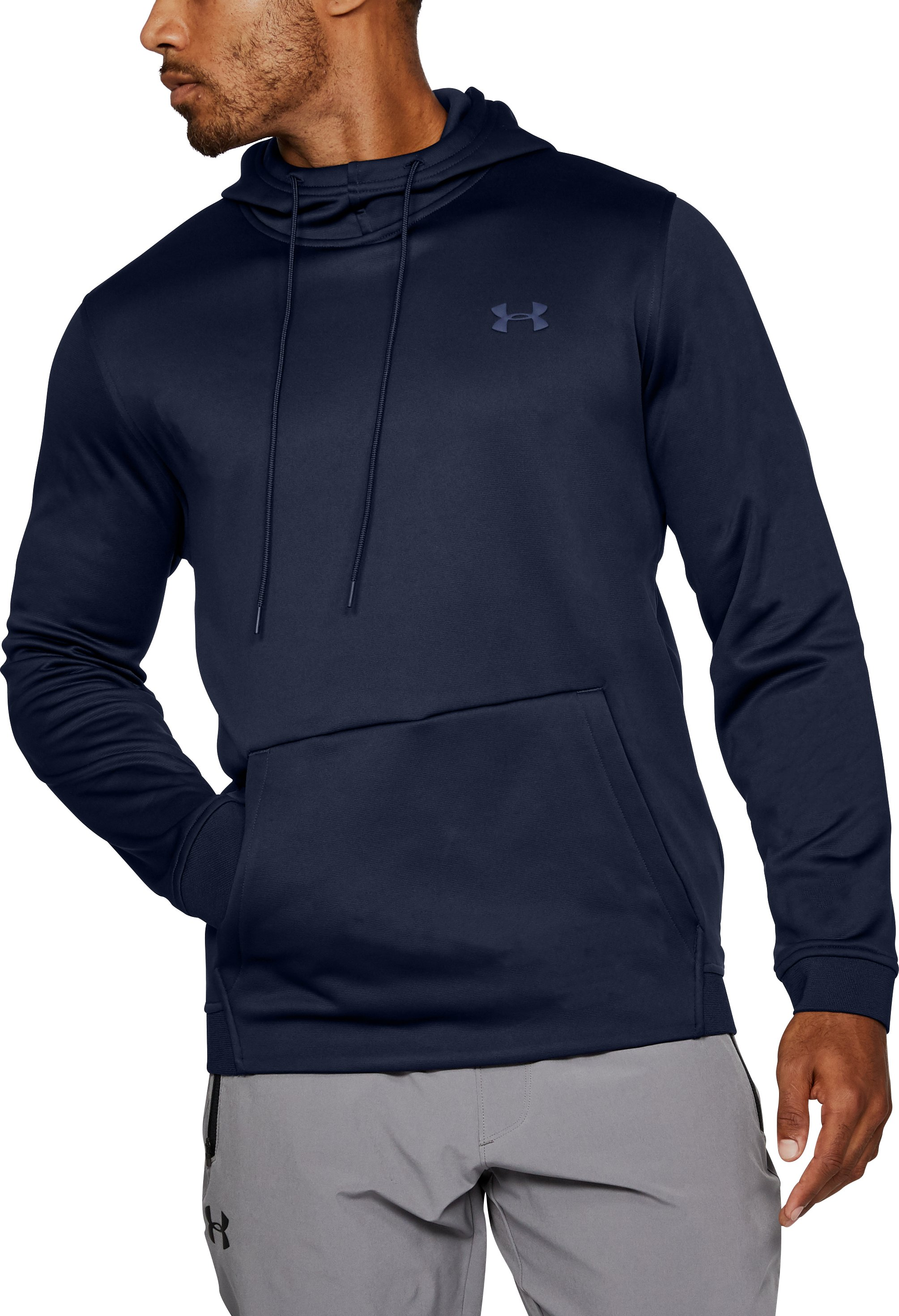 Men's Armour® Fleece Hoodie, Midnight Navy